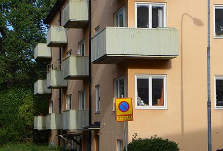 Balkonger i Hammarbyhöjden