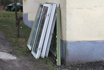 Fönsterbytt fasad gamla fönster
