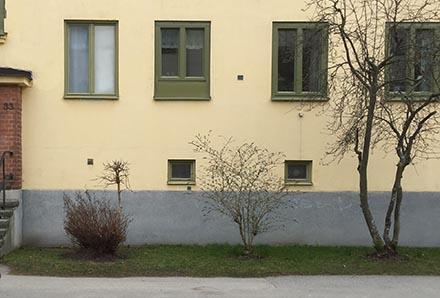 Fönsterbytt fasad