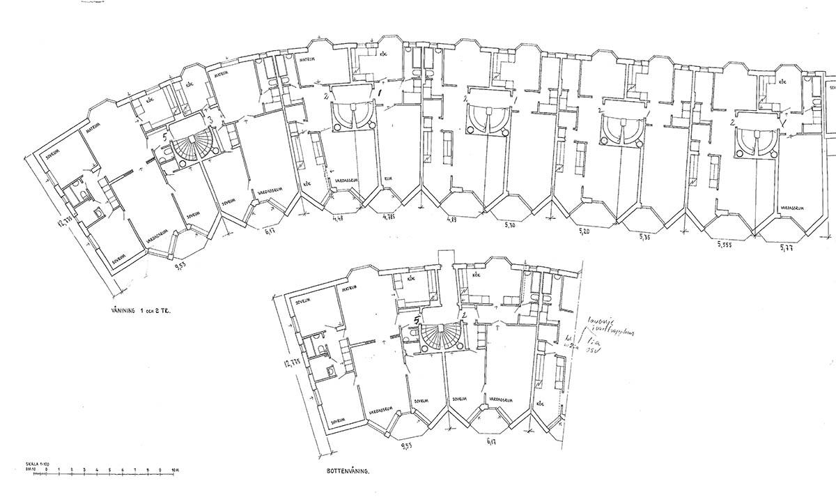 100 ar gamla kartescher i bostad