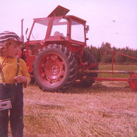 Framför traktor