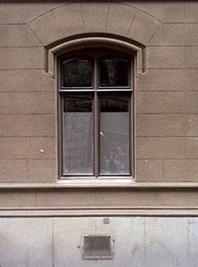 Gammalt fönster litet