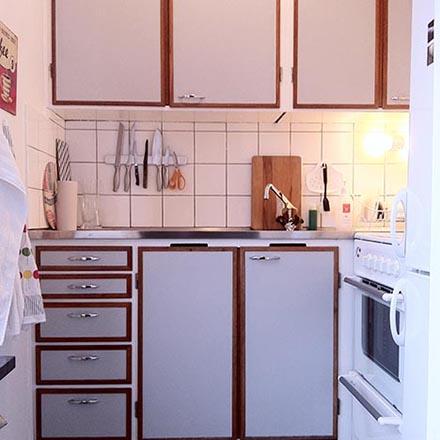 Kök med perstorp och teak