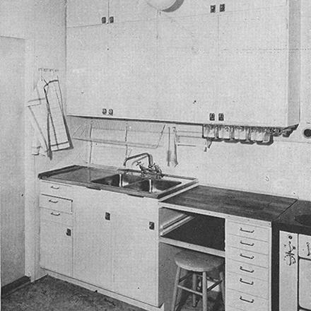 Köksstandard 1950 exempelbild disk och arbetsbänk liten