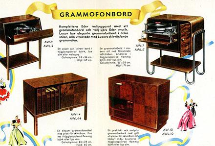 Luxor grammofonbord