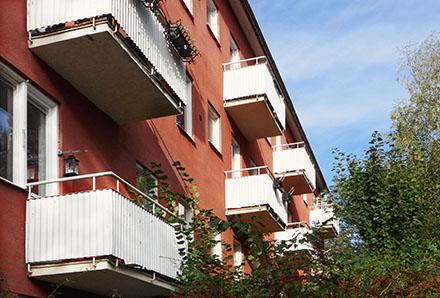 Snygga balkonger Hammarbyhöjden