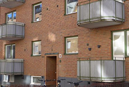 Snygga balkonger i Norrköping 1