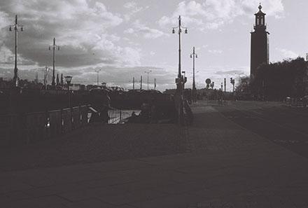 Stockholm i skymningen